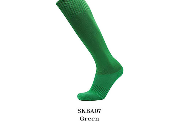 Green Sports Knee Basic Socks