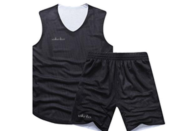 VBR01 White/Black Vikerz Basketball Reversible Jerseys & Shorts