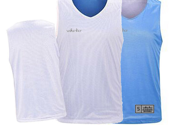 VBR03 White/Lt Blue Vikerz Basketball Reversible Jerseys & Shorts