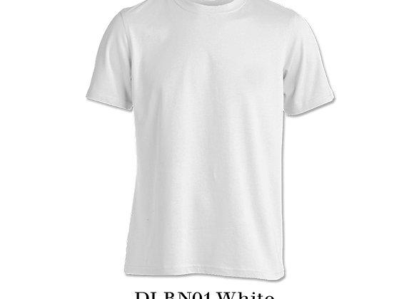 White Unisex Dri-Fit Round Neck