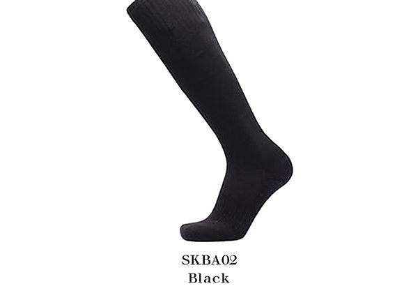 Black Sports Knee Basic Socks