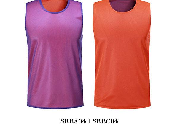 Purple/Neon Orange Sports Reversible Bibs Unisex