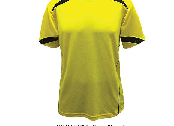 Yellow/Black Round Neck Design T-Shirt