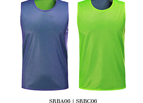 Purple/Neon Green Sports Reversible Bibs Unisex