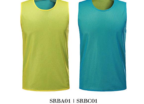 Neon Yellow/Light Blue Sports Reversible Bibs Unisex