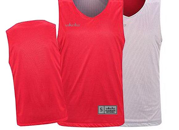 VBR10 Red/Grey Vikerz Basketball Reversible Jerseys & Shorts