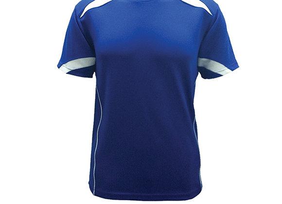 Royal/White Round Neck Design T-Shirt