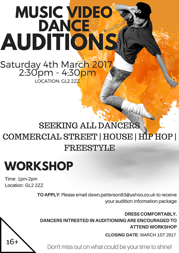 MUSIC VIDEO DANCE AUDITIONS