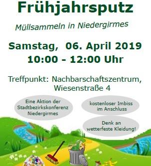 Frühjahrsputz in Niedergirmes und der SV ist mit dabei.
