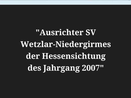 SV Wetzlar-Niedergirmes war Ausrichter der Hessensichtung des Jahrgang 2007