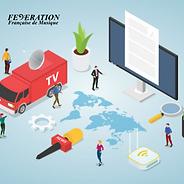 ffm-federation-francaise-musique-accueil-yutube-presse-revue-dssin-clipart-tv-television-ecan-peronage-micro-map-monde-flux-rss-camion-couleur-logo-motif