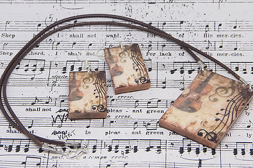 Musicale Necklace and Earrings