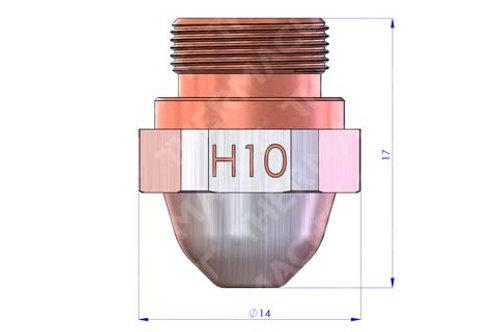 H10 Düse Durchmesser 1.0 mm Hartchrom