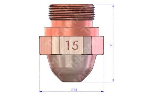 15 Düse Durchmesser 1.5 mm Hartchrom