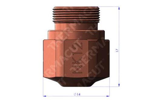 NK 12 Düse Durchmesser 1.25 mmfür Stahl 6-8 mm