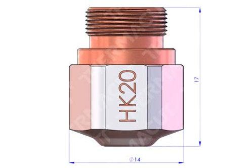 HK 20 Düse Durchmesser 2.0 mm Hartchrom