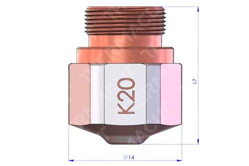 K 25 Düse Durchmesser 2.5 mm Hartchrom