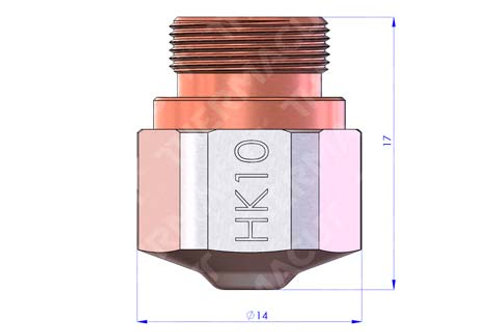 HK 10 Düse Durchmesser 1.0 mm Hartchrom