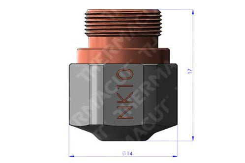 NK 10 Düse Durchmesser 1.0 mm Hartchrom