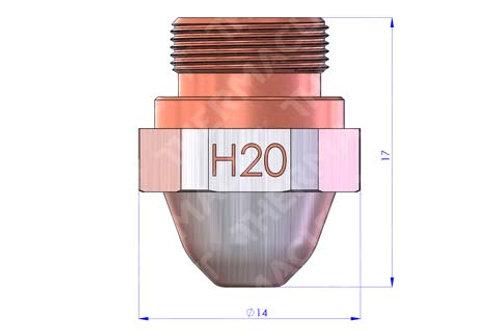 H20 Düse Durchmesser 2.0 mm Hartchrom