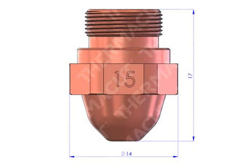 15 Düse Durchmesser 1.5 mm