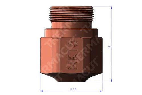 NK 15 Düse Durchmesser 1.5 mmfür Stahl 10-12 mm