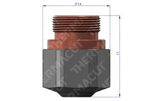NK 25 Düse Durchmesser 2.5 mm Hartchrom