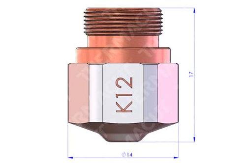 K 12 Düse Durchmesser 1.25 mm Hartchrom