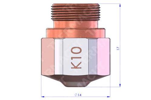 K 10 Düse Durchmesser 1.0 mm Hartchrom