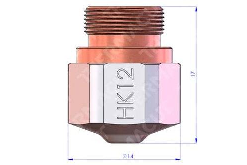 HK 12 Düse Durchmesser 1.25 mm Hartchrom