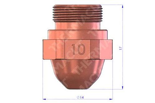 10 Düse Durchmesser 1.0 mm
