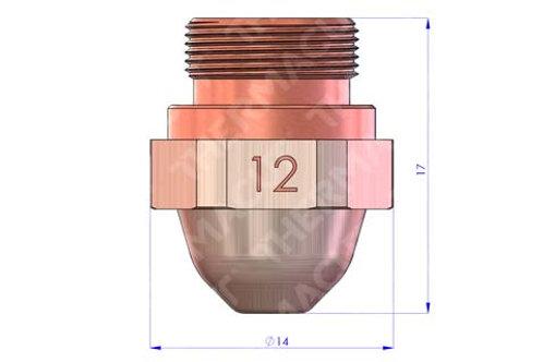 12 Düse Durchmesser 1.25 mm Hartchrom