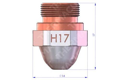 H17 Düse Durchmesser 1.75 mm Hartchrom