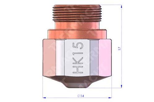 HK 15 Düse Durchmesser 1.5 mm Hartchrom