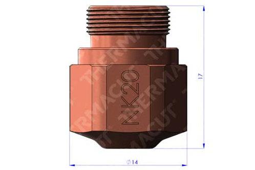NK 20 Düse Durchmesser 2.0 mm für Stahl 16-18 mm