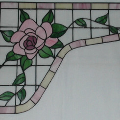 Hoekstuk met roos