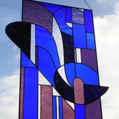 Fantasie in paars en blauw