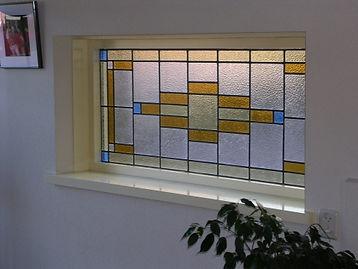 Eenvoudig recht ontwerp - Schipper Doorzichtig - Glas in lood