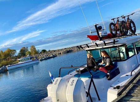 【Axopar Boats】這次不帶釣具 帶腳踏車