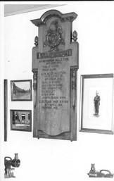 Memorial tablet. Fairweather Green Station.