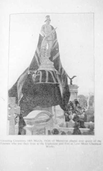 Memorial unveiling.