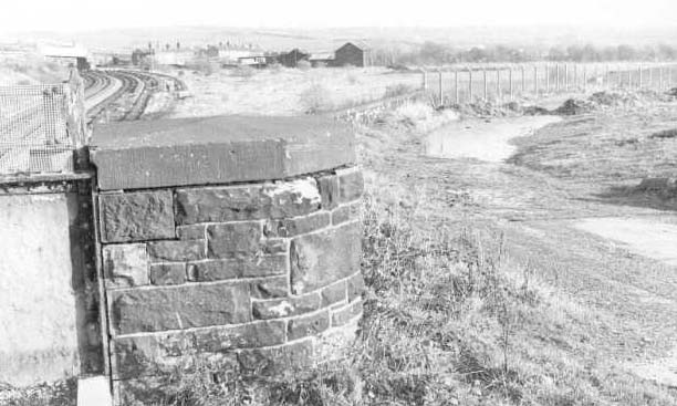Remains of approach roads 1980.