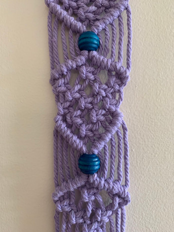 purple hanging