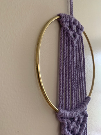 purple hoop hanging