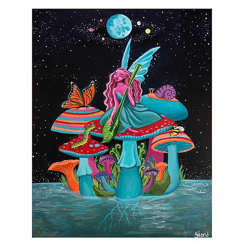 """Fairy Serenade"" Original Painting"