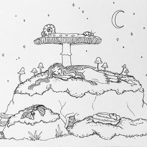 🌙 goodnight sweet sprite 💫_._Just pen.