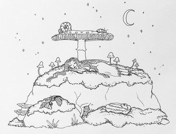 🌙 goodnight sweet sprite 💫 Just pen.