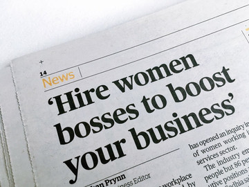 'Hire woman bosses to boost your business'