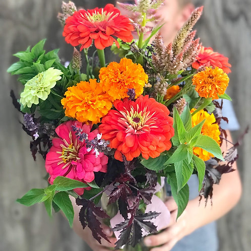 Quart Size - Farm Fresh Mixed Flowers