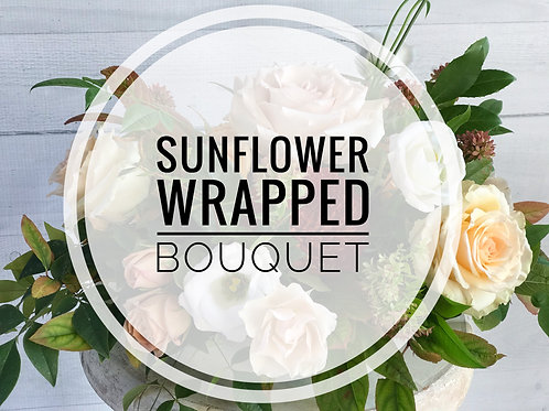 Wrapped Sunflower Bouquet